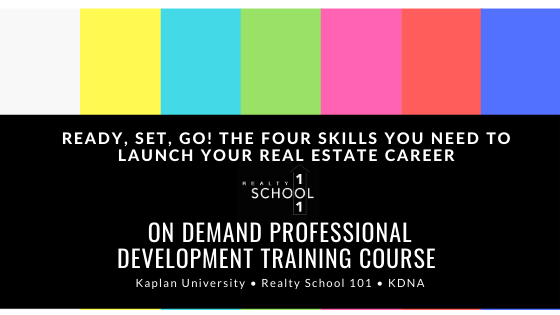 Ready, Set, Go! The Four Skills You Need to Launch Your Real Estate Career